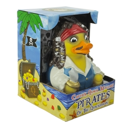 CAPTAIN QUACK MALLARD, PIRATE OF THE QUACKIBBEAN RUBBER DUCK