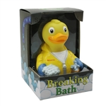 BREAKING BATH RUBBER DUCK