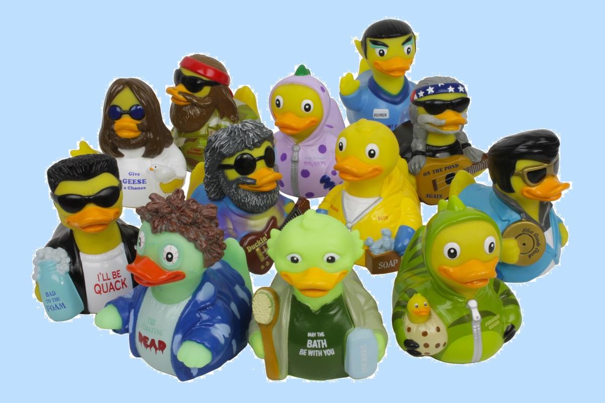 CelebriDucks Blue Suede RUBBER DUCK Costume Quacker Bath Toy